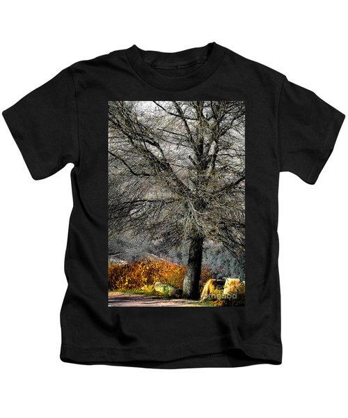 Naked For The Winter Kids T-Shirt