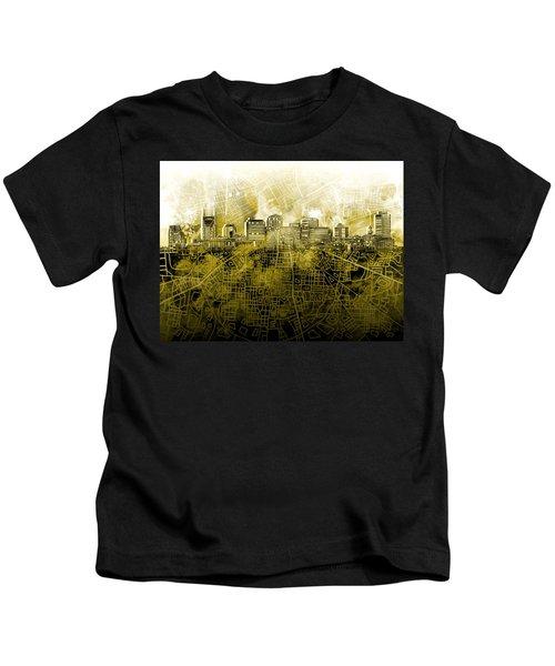 Nashville Skyline Watercolor 4 Kids T-Shirt