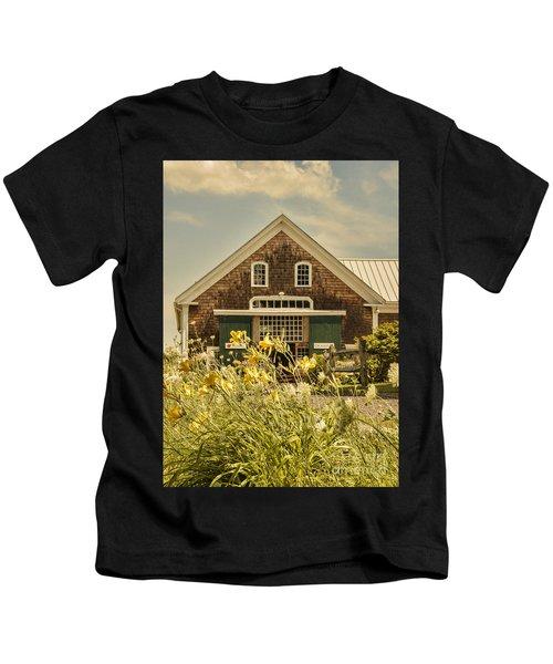 New England Farmhouse Kids T-Shirt