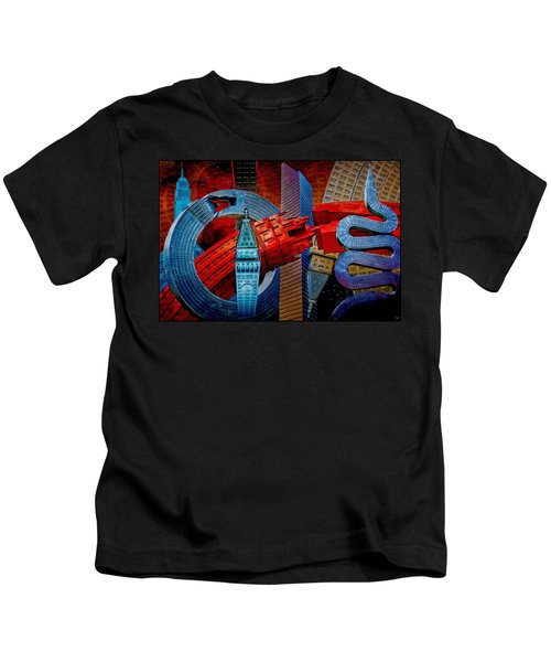 New York City Park Avenue Sculptures Reimagined Kids T-Shirt
