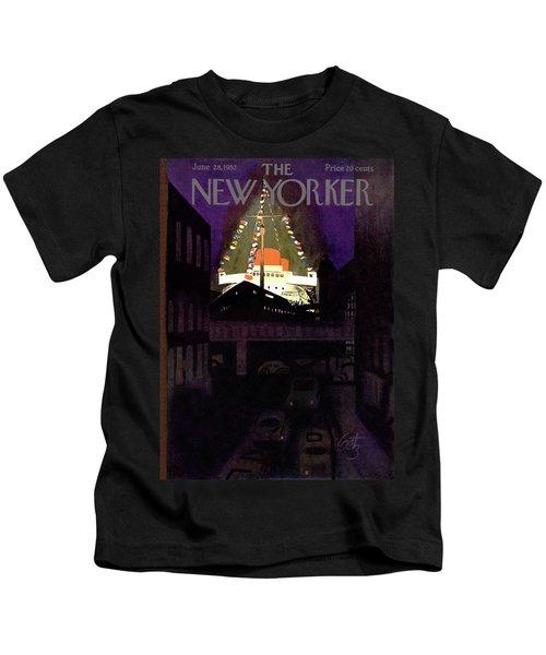 New Yorker June 28th, 1952 Kids T-Shirt