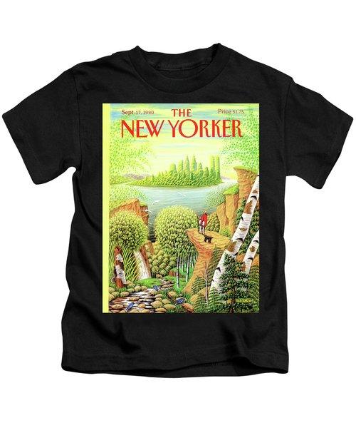Green New York Kids T-Shirt