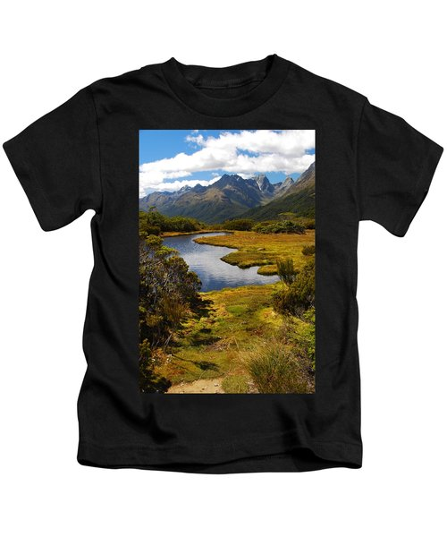 New Zealand Alpine Landscape Kids T-Shirt