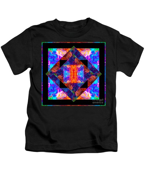 Newly Formed Bliss Mandala Artwork Kids T-Shirt