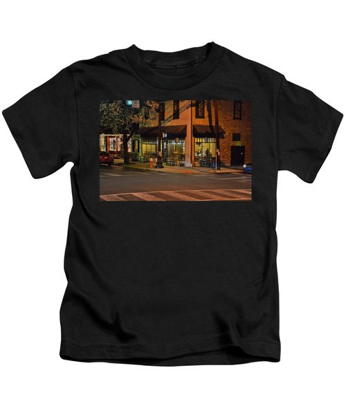 Kids T-Shirt featuring the photograph Newtown Nighthawks by William Jobes
