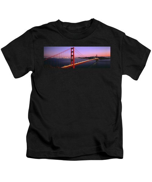 Night Golden Gate Bridge San Francisco Kids T-Shirt