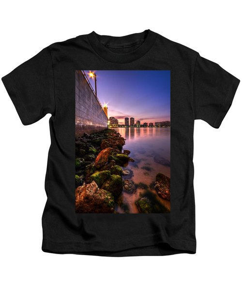 Night Tide In The Palm Beaches Kids T-Shirt