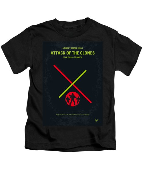 No224 My Star Wars Episode II Attack Of The Clones Minimal Movie Poster Kids T-Shirt