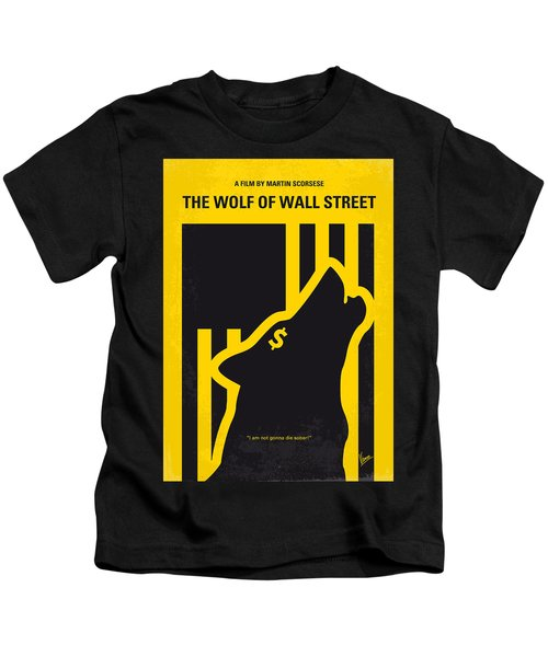 No338 My Wolf Of Wallstreet Minimal Movie Poster Kids T-Shirt