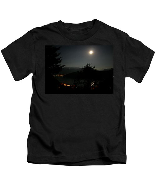 Nocturne In Switzerland Kids T-Shirt