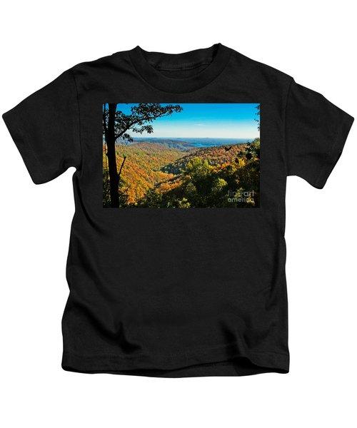 North Carolina Fall Foliage Kids T-Shirt