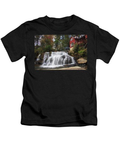 North Carolina Waterfall Kids T-Shirt