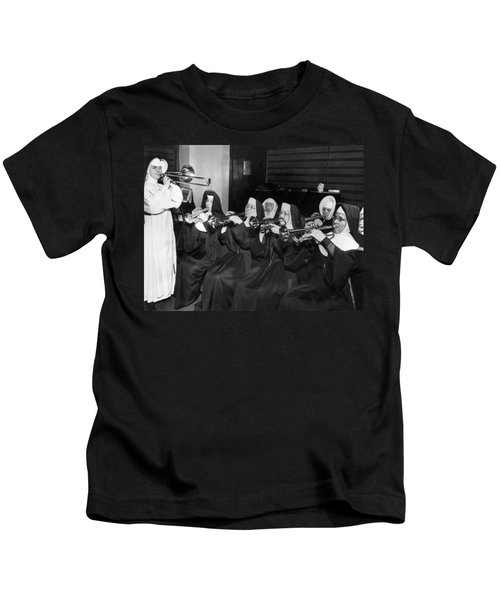 Nuns Rehearse For Concert Kids T-Shirt