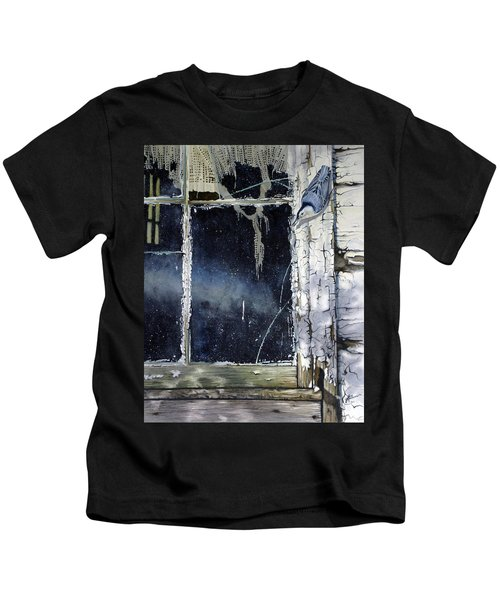 Nuthatch And Window Kids T-Shirt
