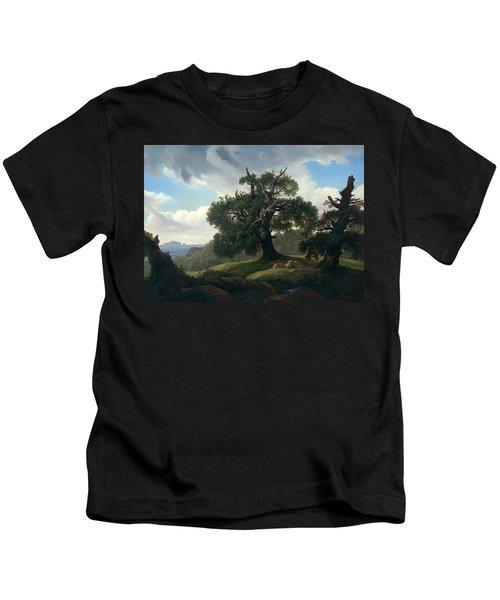 Oak Trees By The Sea Kids T-Shirt