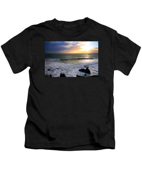 Ocean Sunset 84 Kids T-Shirt