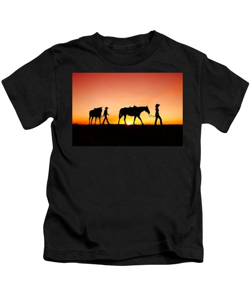 Off To The Barn Kids T-Shirt