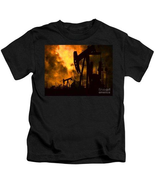 Oil Pumps Kids T-Shirt