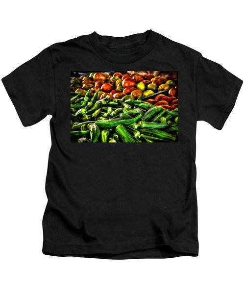 Okra And Tomatoes Kids T-Shirt