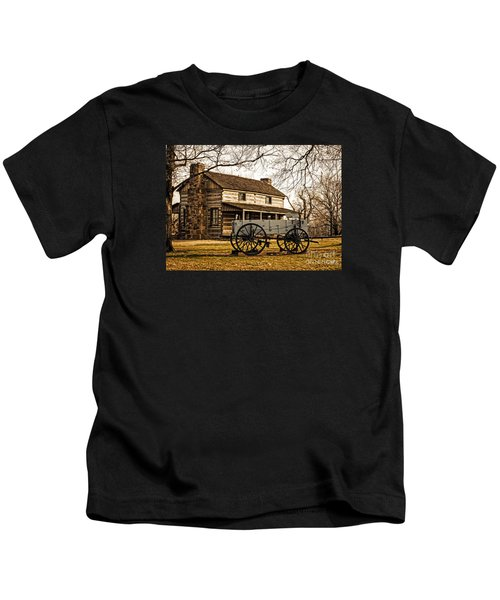 Old Log Cabin In Autumn Kids T-Shirt