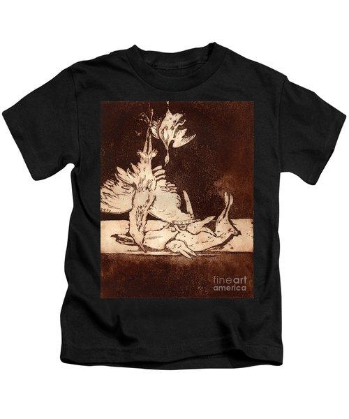 Old Masters Still Life - With Great Bittern Duck Rabbit - Nature Morte - Natura Morta - Still Life Kids T-Shirt