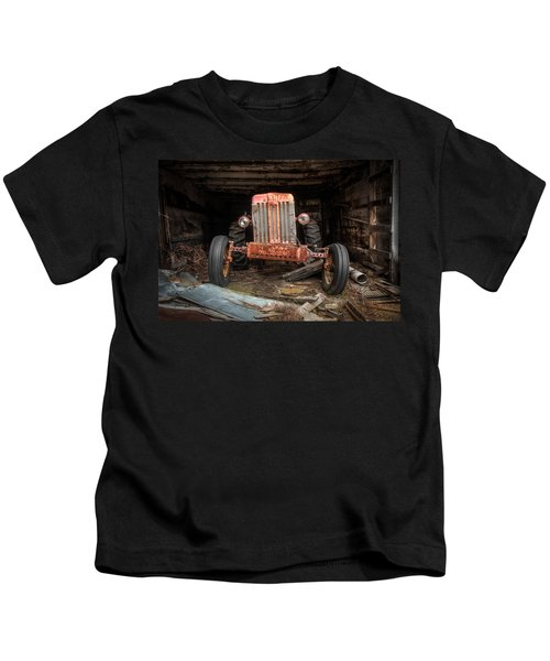 Old Tractor Face Kids T-Shirt