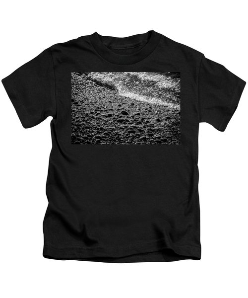On The Rocks At French Beach Kids T-Shirt