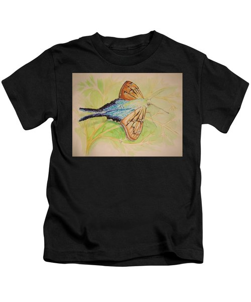 One Day In A Long-tailed Skipper Moth's Life Kids T-Shirt