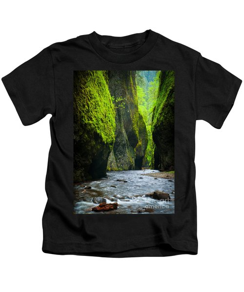 Oneonta River Gorge Kids T-Shirt