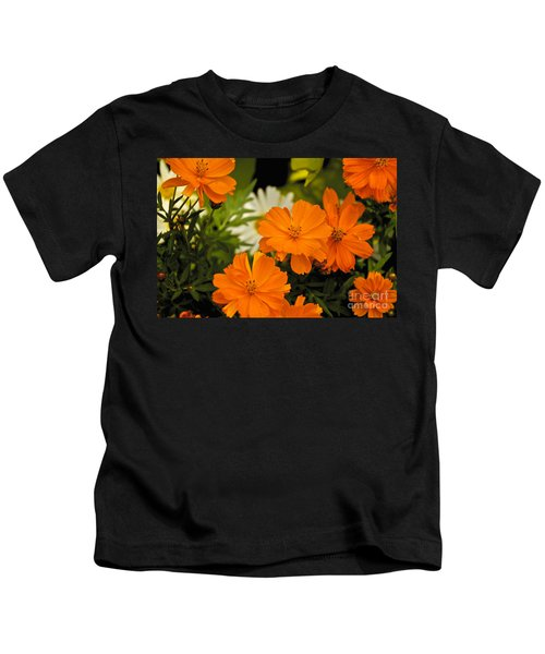 Orange Flowers Kids T-Shirt