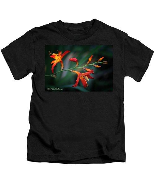 Orange Lily Kids T-Shirt