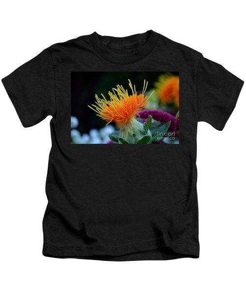 Orange Safflower Kids T-Shirt