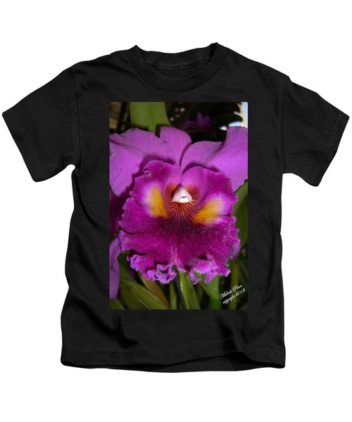 Orchid Flames Kids T-Shirt