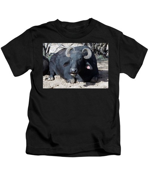Out Of Africa  Water Buffalo Kids T-Shirt