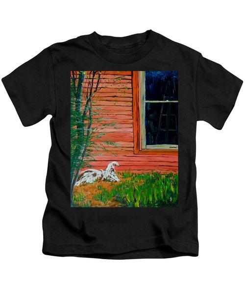Outside The Artist's Studio Kids T-Shirt