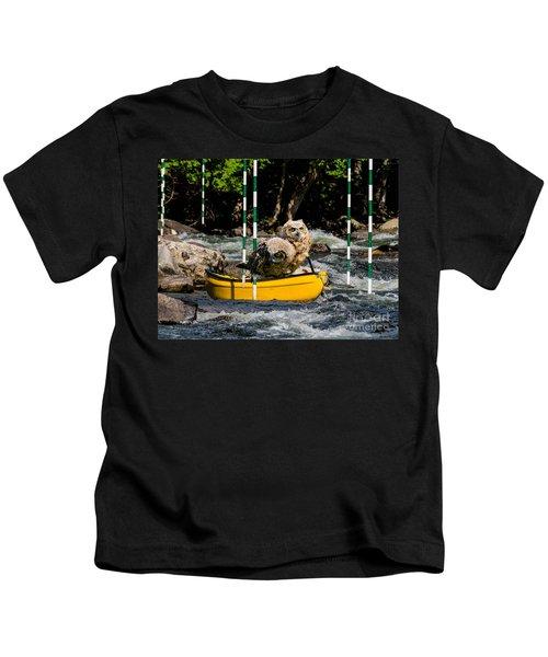 Owlets In A Canoe Kids T-Shirt