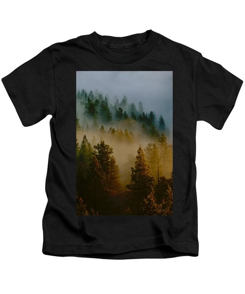 Pacific Northwest Morning Mist Kids T-Shirt