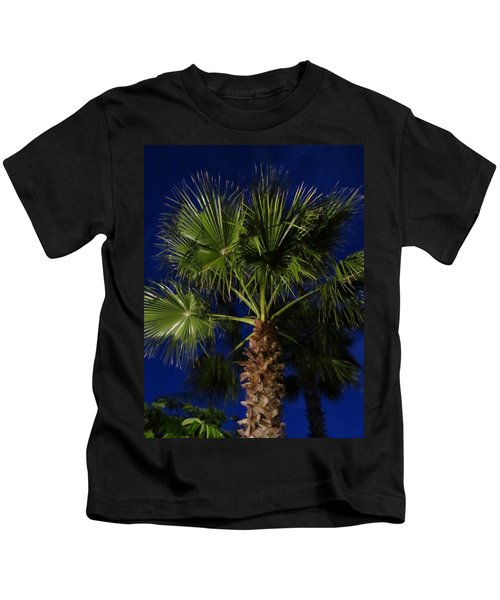 Palm Tree At Night Kids T-Shirt