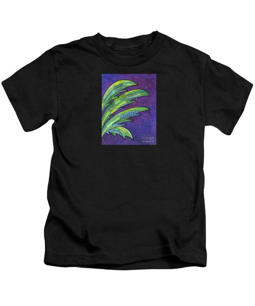 Palms Against The Night Sky Kids T-Shirt
