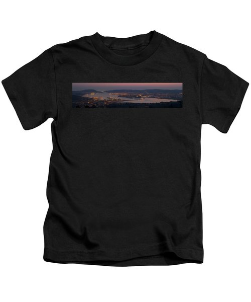 Panorama Of Ferrol From Mount Marraxon Galicia Spain Kids T-Shirt