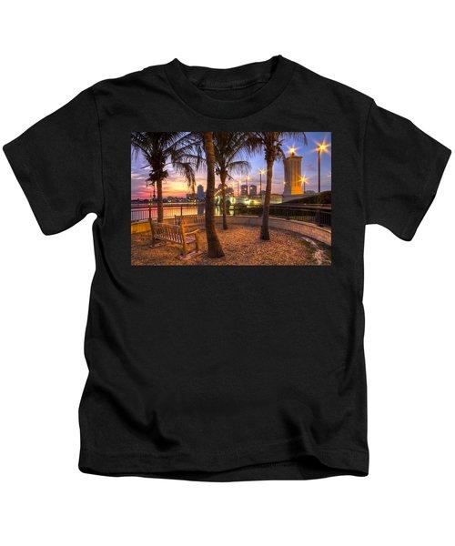 Park On The West Palm Beach Wateway Kids T-Shirt