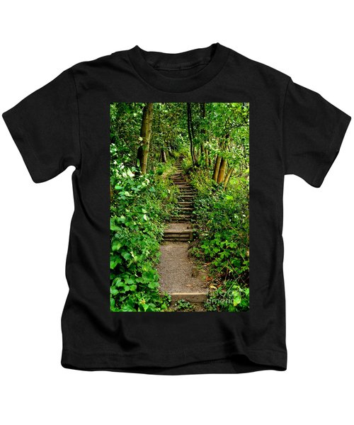 Path Into The Forest Kids T-Shirt