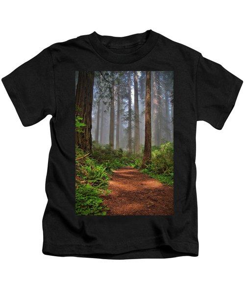 Path Thru The Redwoods Kids T-Shirt