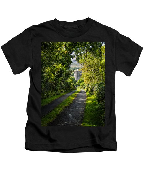 Kids T-Shirt featuring the photograph Path To Newtown Castle by James Truett