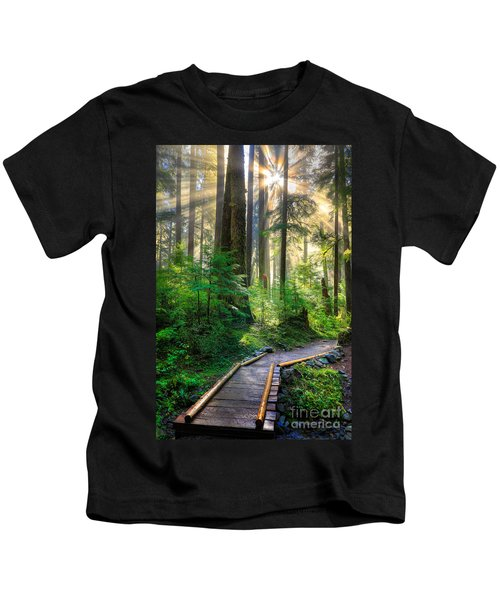 Pathway Into The Light Kids T-Shirt