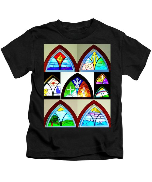 Peace To All Who Enter Here Kids T-Shirt