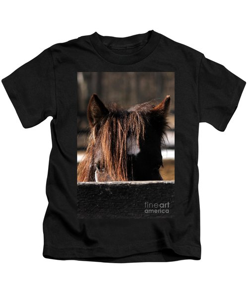 Peek-a-boo Pony Kids T-Shirt