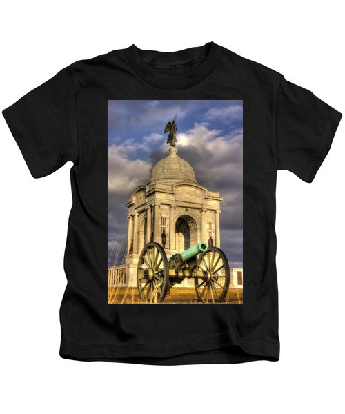 Pennsylvania At Gettysburg 2a - State Monument - Hancock Ave At Pleasonton Ave Late Afternoon Winter Kids T-Shirt