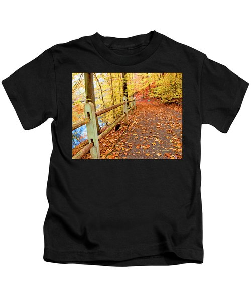Pennypack Trail Philadelphia Fall Kids T-Shirt