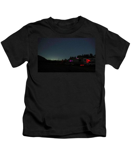 Perseid Meteor-julian Night Lights Kids T-Shirt